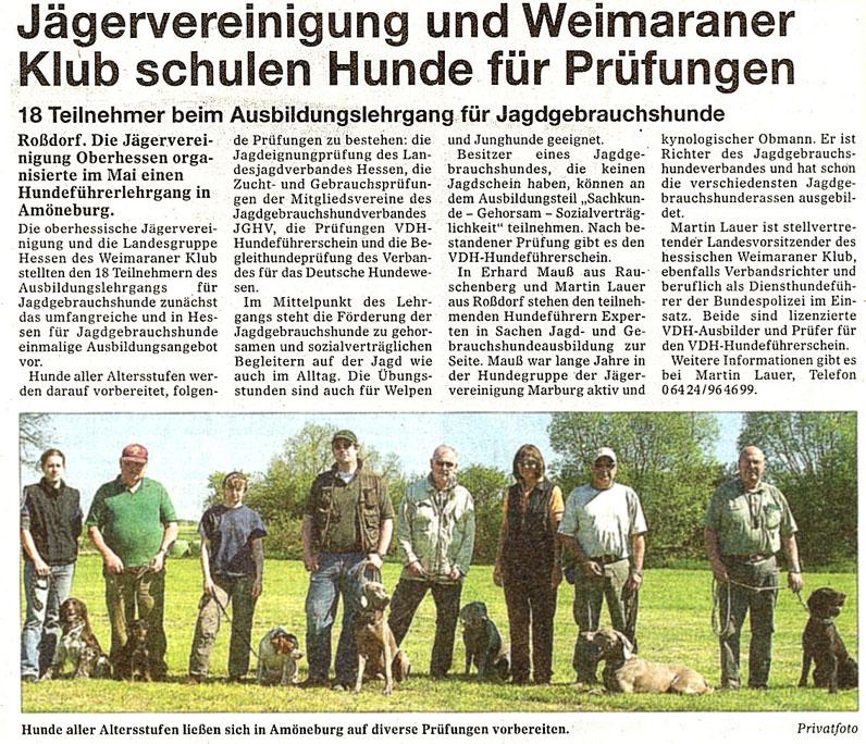 Jaegervereinigung Weimaraner